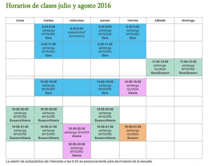detalle horario julio 2016